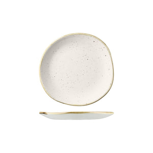9979118-W Stonecast Barley White Round Organic Plate 186mm Leisure Coast Hospitality & Packaging
