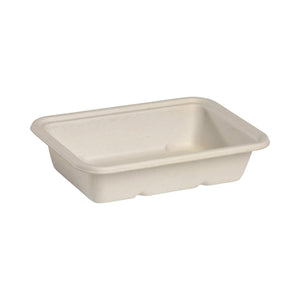 B-LB-500-N BioPak Rectangular Takeaway Natural Coloured Base - 500ml Leisure Coast Hospitality & Packaging Supplies