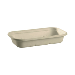 B-LB-750-N BioPak Rectangular Takeaway White Coloured Base - 750ml Leisure Coast Hospitality & Packaging Supplies