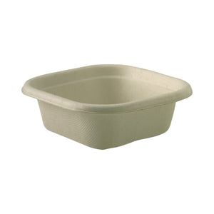 B-SLB-280-N BioPak Square Takeaway Natural Coloured Base - 280ml Leisure Coast Hospitality & Packaging Supplies
