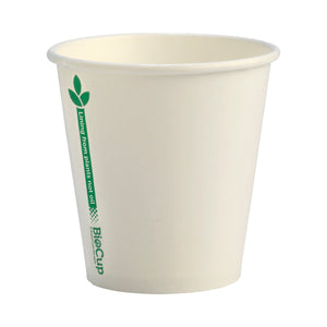 BioCup Single Wall White Green Line