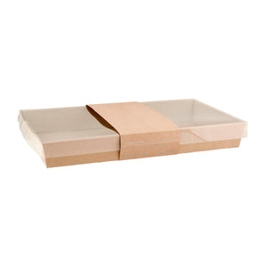 Greenmark, Medium Low Rectangular Catering Tray Kraft Base Leisure Coast Hospitality and Packaging