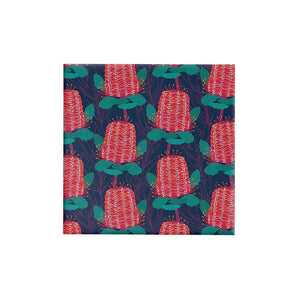 BW BN NAV Gift Wrap Banksia Wrap Red & Green on Navy Leisure Coast Hospitality & Packaging Supplies