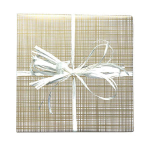 BW CR GOL Christmas Gift Wrap Crosshatch Wrap Gold Leisure Coast Hospitality & Packaging Supplies