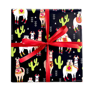 BW LMA1 Gift Wrap Llama Leisure Coast Hospitality & Packaging