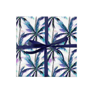 BW P BLU Beewrap Gift Wrap Palm Print Blue Leisure Coast Hospitality & Packaging Supplies