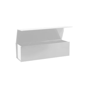 Collapsible Single Wine Box with Hinge Lid White