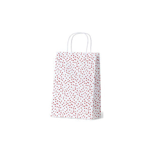 CWJ RED Gift Bag Confetti Junior Red on White Leisure Coast Hospitality and Packaging