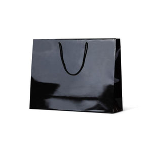 European Gloss Laminated Art Paper Bag Gloss Black