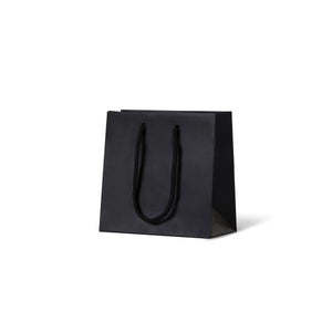 European Matte Black Laminated Art Paper Bag