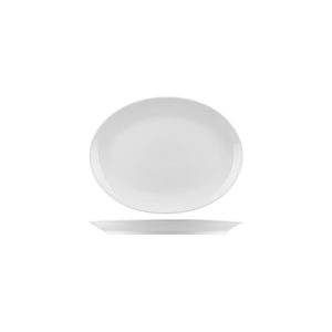 NOP21 RAK Porcelain Nano Oval Coupe Plate 210x150mm Leisure Coast Hospitality & Packaging
