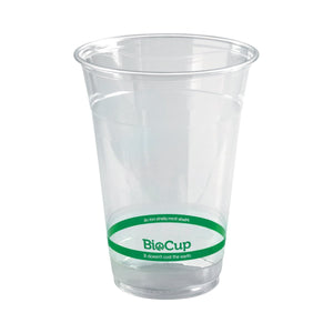 R-500Y BioPak BioCup Ingeo BioPlastic (PLA) Cup 500ml Leisure Coast Hospitality & Packaging Supplies