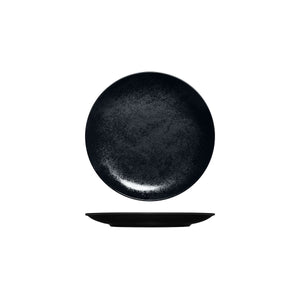 RK3180-BK RAK Porcelain Karbon Black Round Coupe Plate 180mm Leisure Coast Hospitality & Packaging
