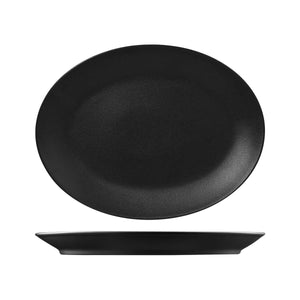 RNF4360-BK RAK Porcelain Neofusion Volcano Oval Coupe Platter 360x270mm Leisure Coast Hospitality & Packaging