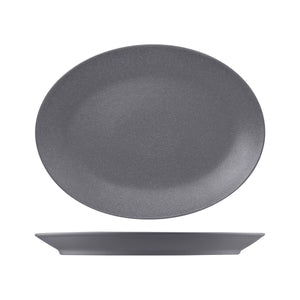 RNF4360-GY RAK Porcelain Neofusion Stone Oval Coupe Platter 360x270mm Leisure Coast Hospitality & Packaging