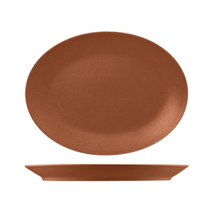 RNF4360-T RAK Porcelain Neofusion Terra Oval Coupe Platter 360x270mm Leisure Coast Hospitality & Packaging
