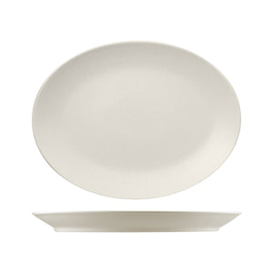 RNF4360-W RAK Porcelain Neofusion Sand Oval Coupe Platter 360x270mm Leisure Coast Hospitality & Packaging
