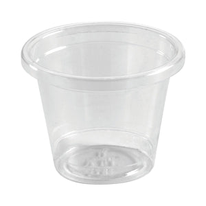 U-30Y BioPak Sauce Container Ingeo Bioplastic (PLA) Base - 30ml Leisure Coast Hospitality & Packaging Supplies