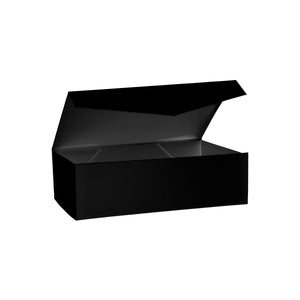 Collapsible Hamper Box with Hinge Lid Black