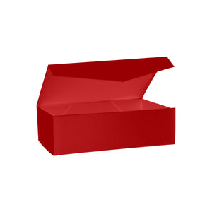 Collapsible Hamper Box with Hinge Lid Red