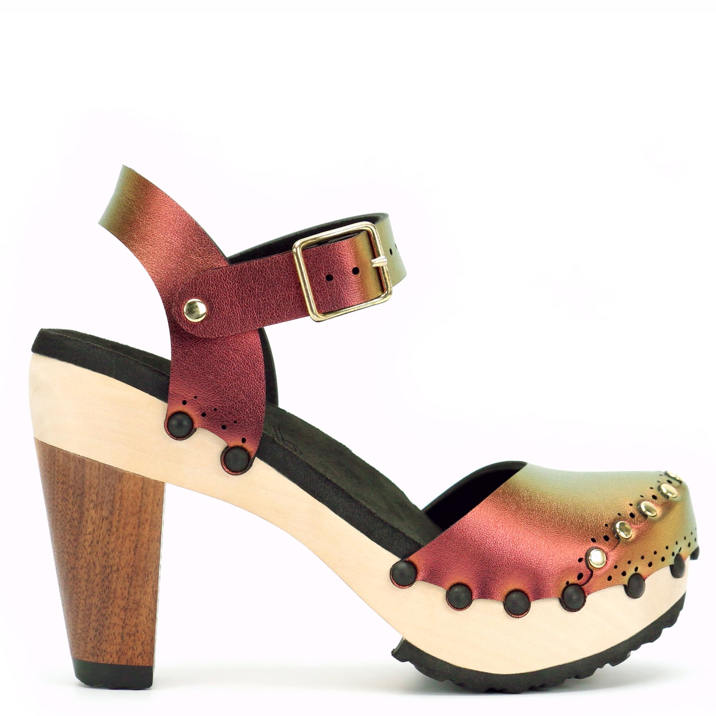 Mohop Ruby Iridescent High Heel Clogs