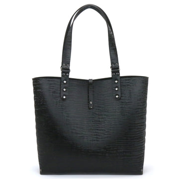 Black Chinchilla vegan leather tote bag by Mohop