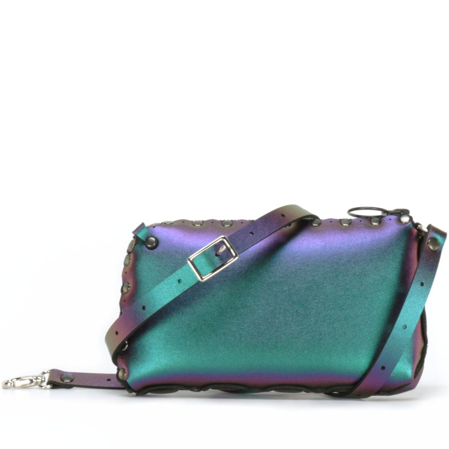 chameleon wallet bag shown with crossbody strap upgrade