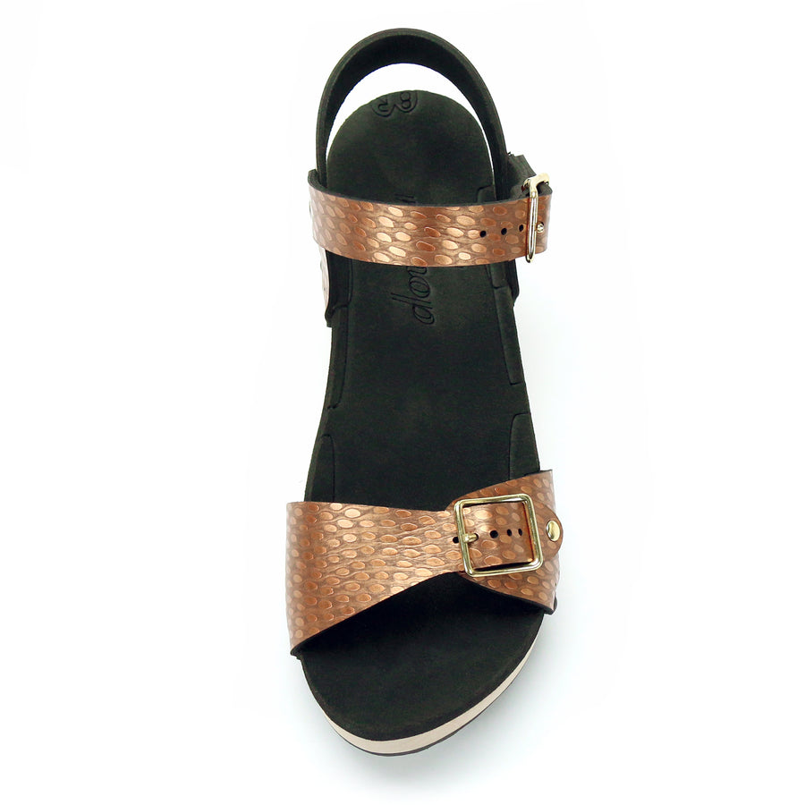 Mid Clog Buckle Toe Ankle in Copper - Mohop