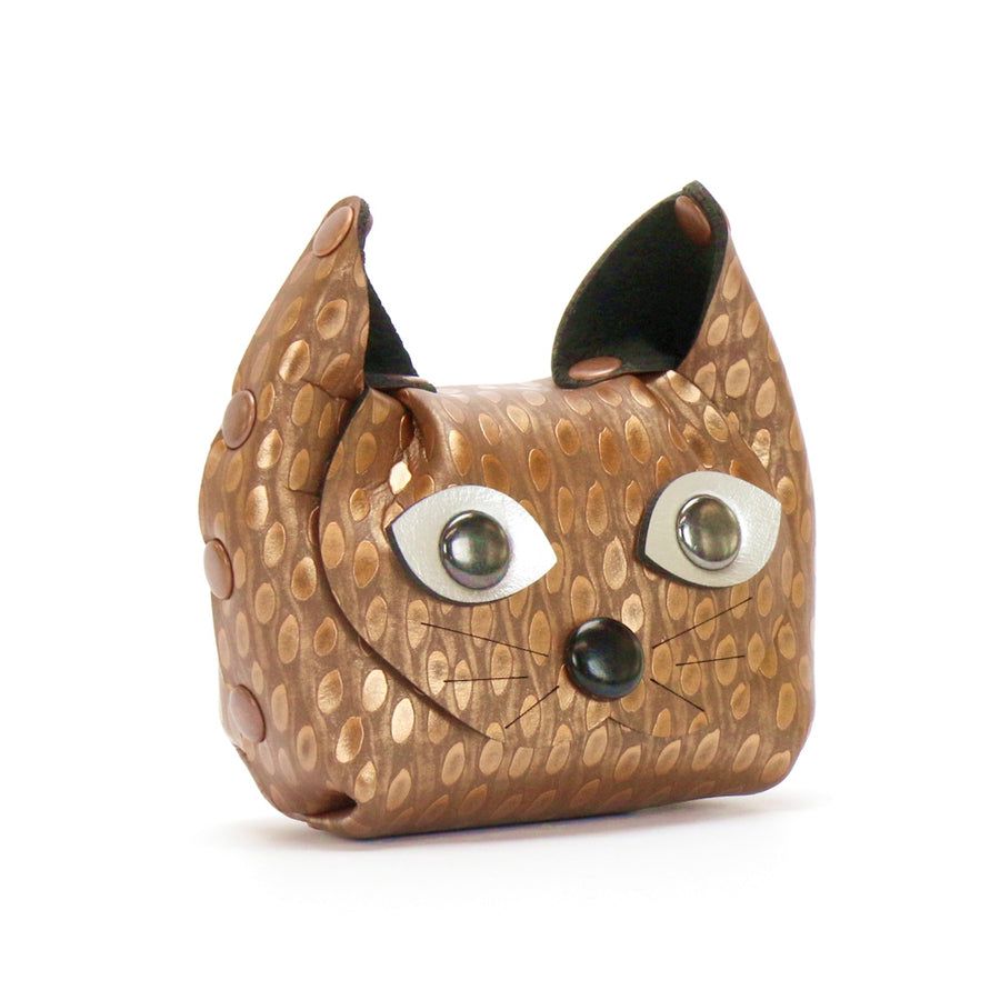 Copper Cat Coin Purse and earbud case by Mohop