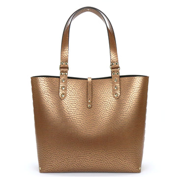 Vegan Leather Copper Tote Bag