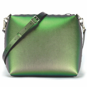 Large emerald crossbody bag with crossbody strap
