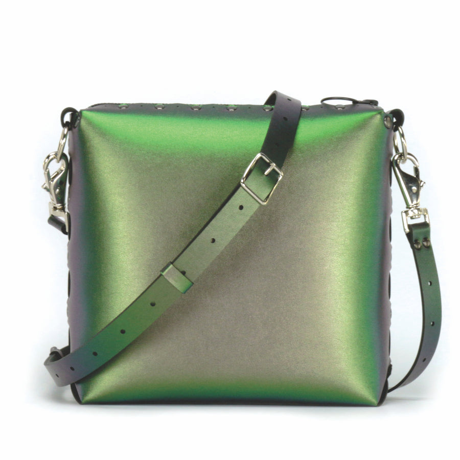 Emerald medium crossbody bag with strap