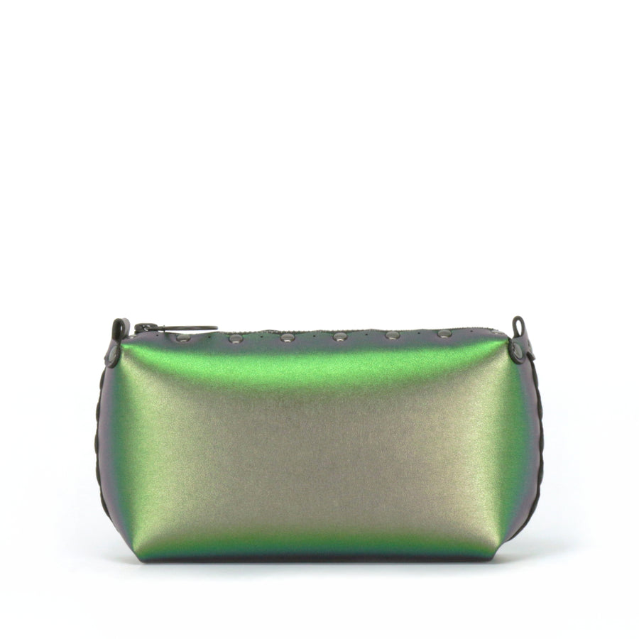 Rear view of emerald mini bag