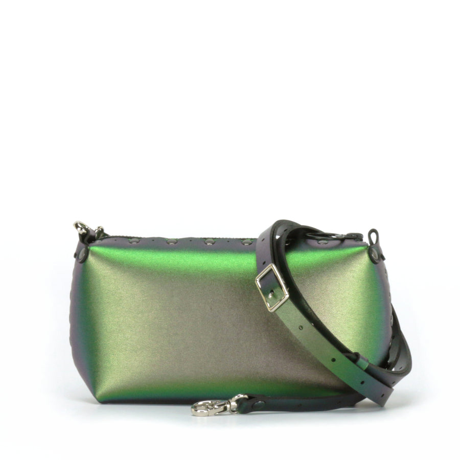 Emerald mini bag shown with optional crossbody strap