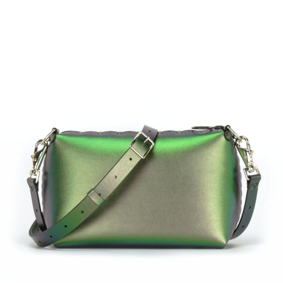 Emerald small crossbody bag with strap