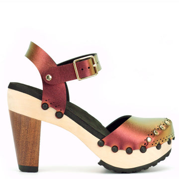 Ruby High Heel Closed Toe Clog