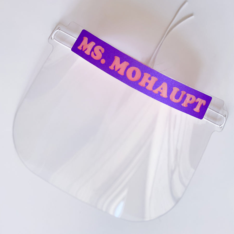 Reusable Adult Face Shield - Personalized