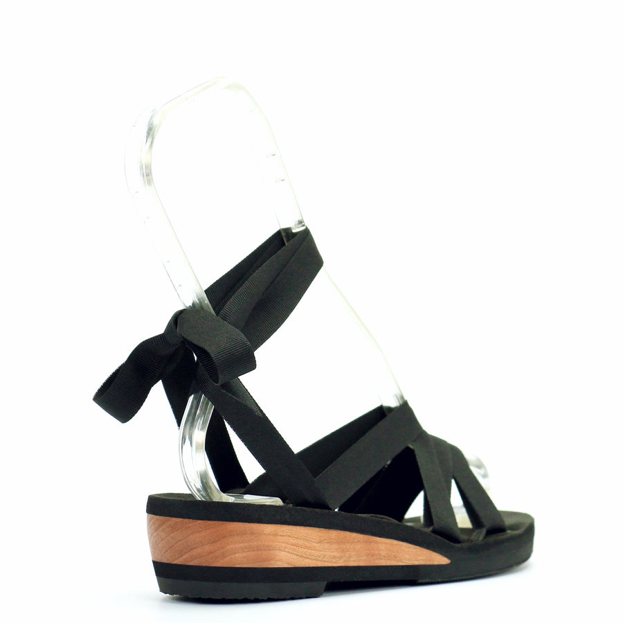 Low Wedge Slide Ribbon Sandal - Mohop