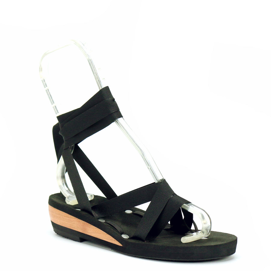 Low Wedge Thong Ribbon Sandal - Mohop