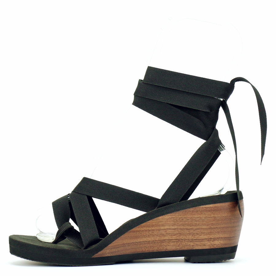 Mid Wedge Thong Ribbon Sandal - Mohop