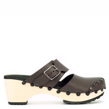 Mid Clog Closed Toe Mule in Espresso