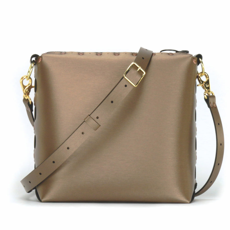 Mocha medium crossbody bag with strap