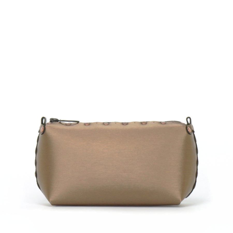 Rear view of mocha mini bag