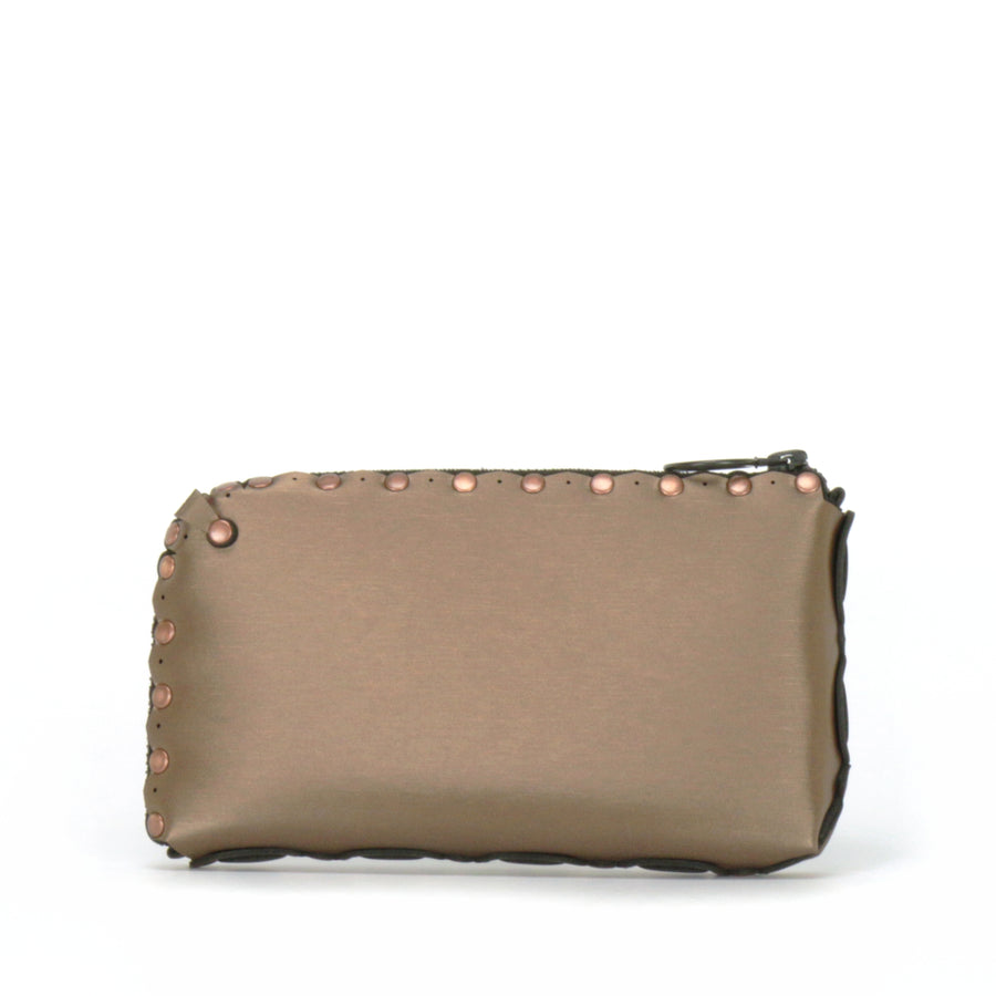 Rear view of mocha wallet bag