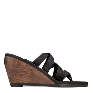 Walnut High Ribbon Sandal - Mohop