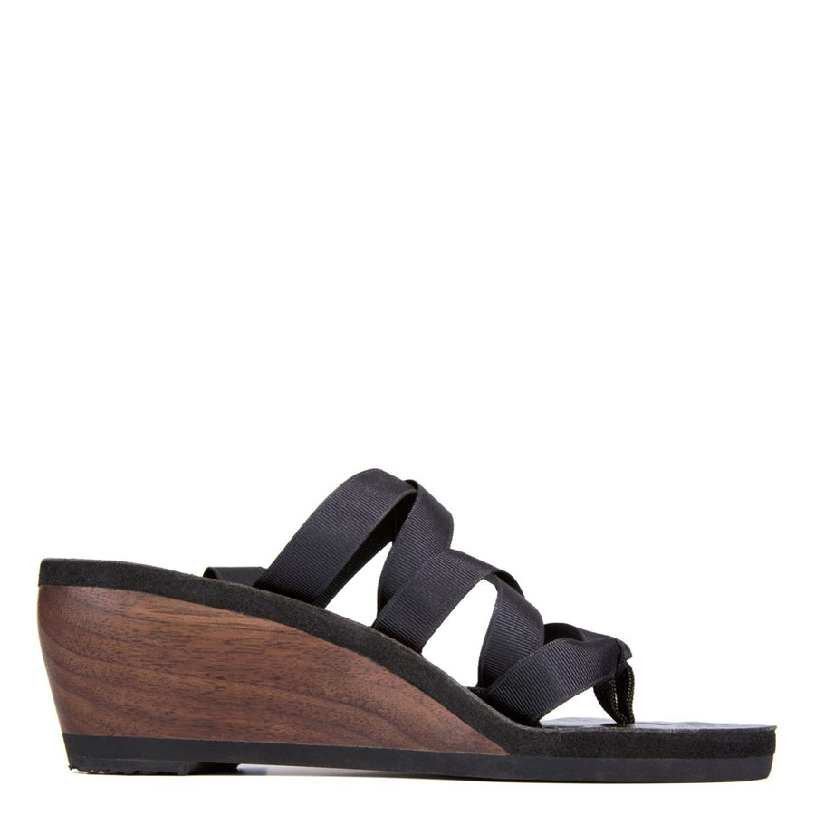 Walnut Mid Ribbon Sandal - Mohop