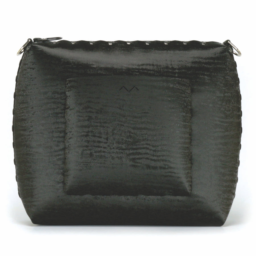 Rear view of onyx large crossbody bag