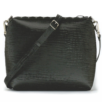 Large onyx crossbody bag with strap