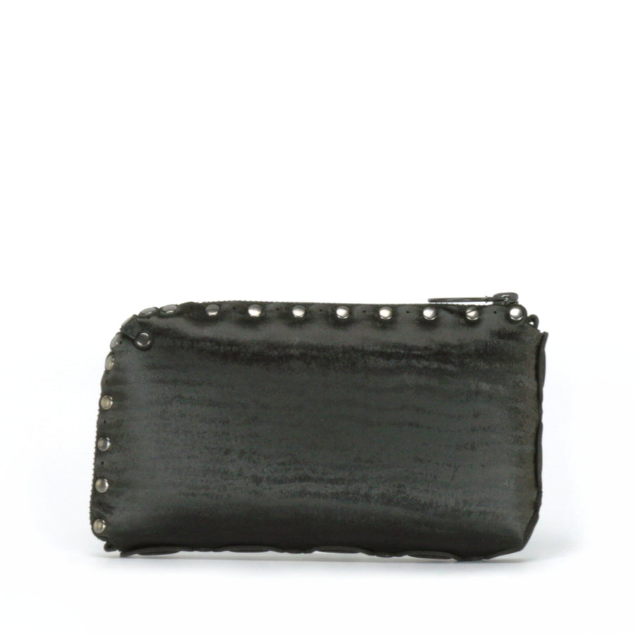 Rear view of onyx wallet bag