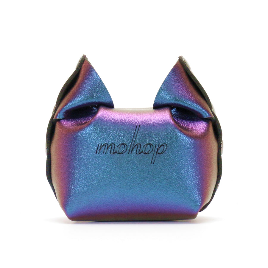 Blue Iridescent Cat Coin Purse by Mohop